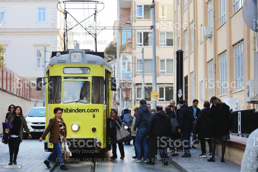 Cable Railway in Kadikoy stock photo