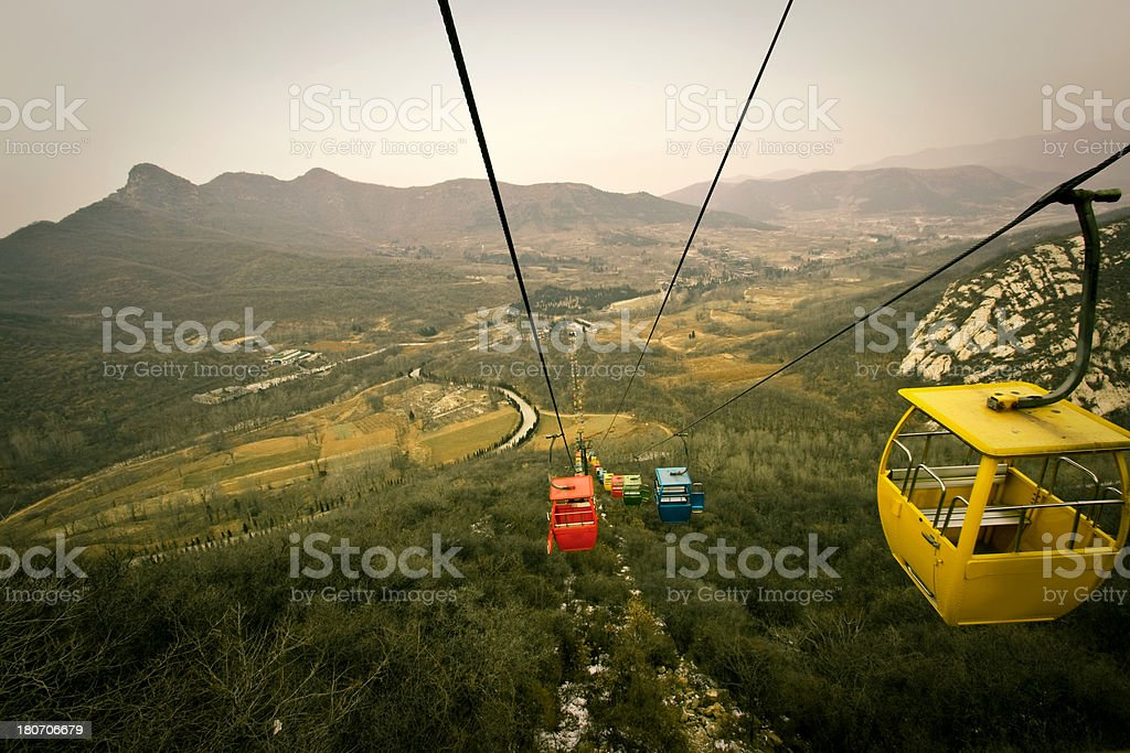 Cable railway, Luoyang stock photo