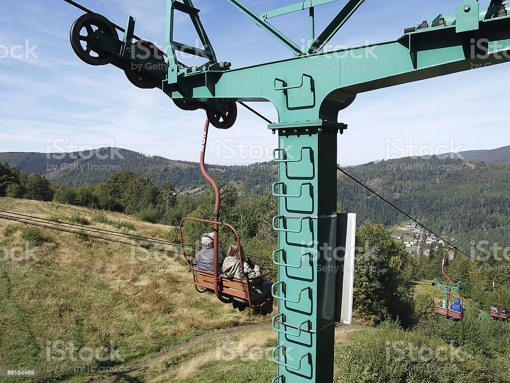 Cable railway royalty-free stock photo