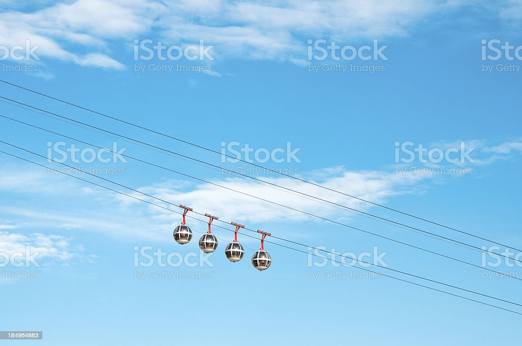 Cable railways in Grenoble, France royalty-free stock photo