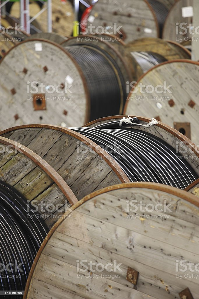 cable reels stock photo
