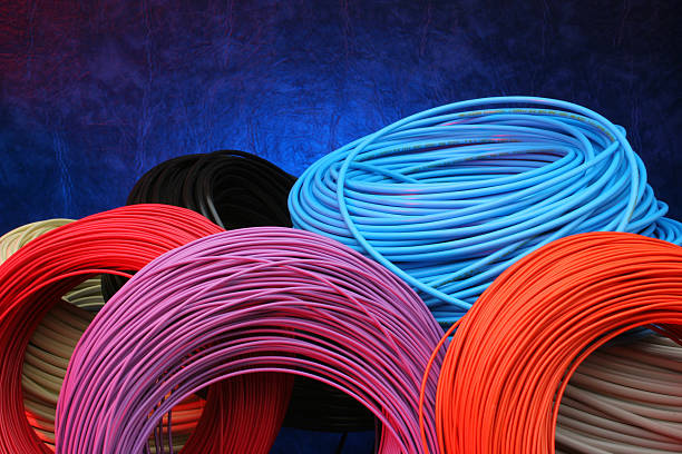 Cable Rolls Stock Photo