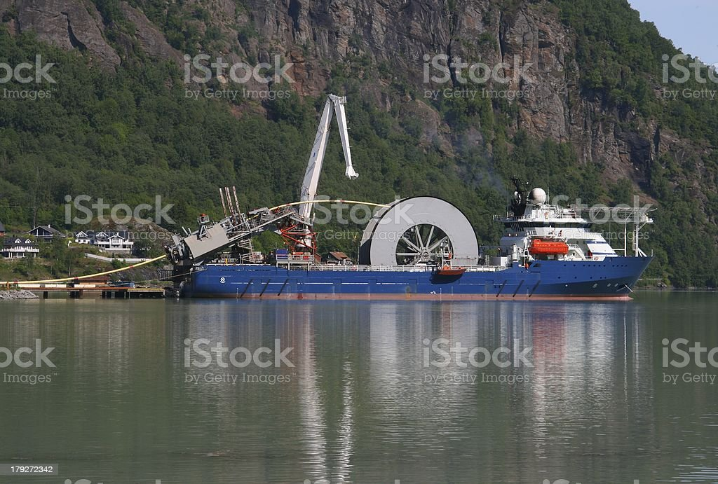Cable ship stock photo
