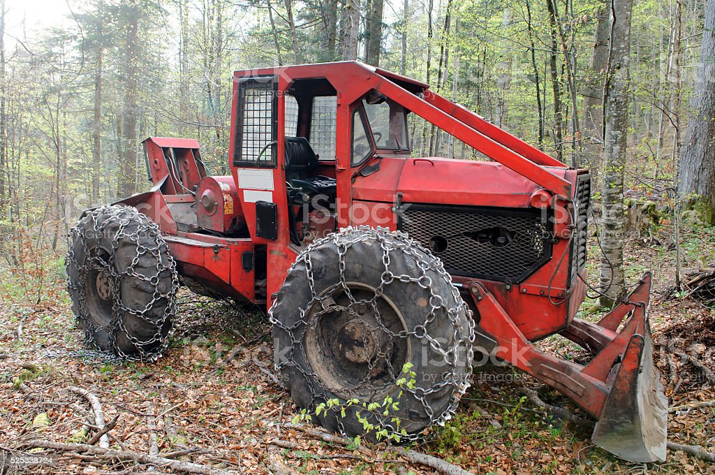 Cable skidder stock photo