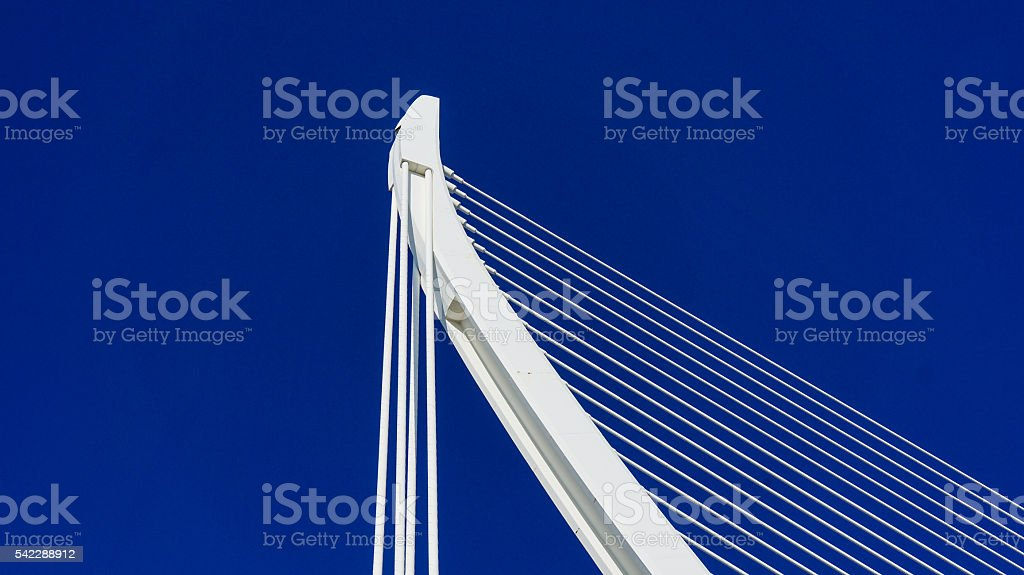 cable stayed bridge in Valencia, Spain stock photo