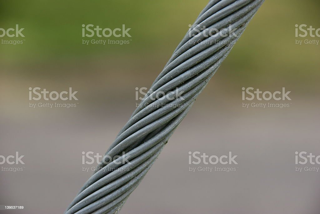 Cable Supporting a Pole royalty-free stock photo