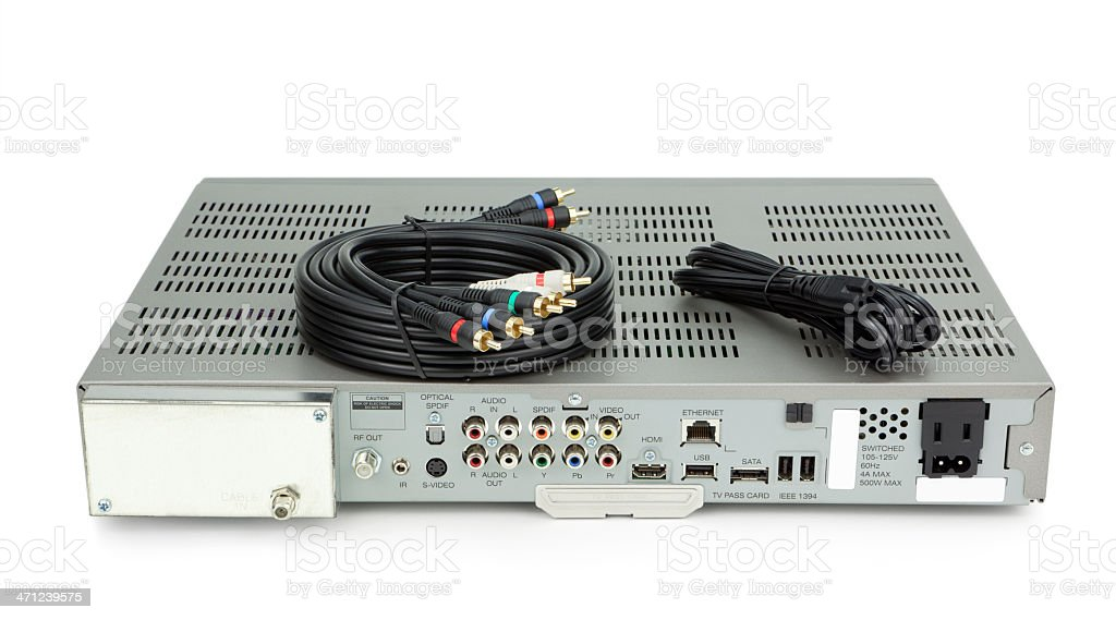 DVR Cable TV Box stock photo