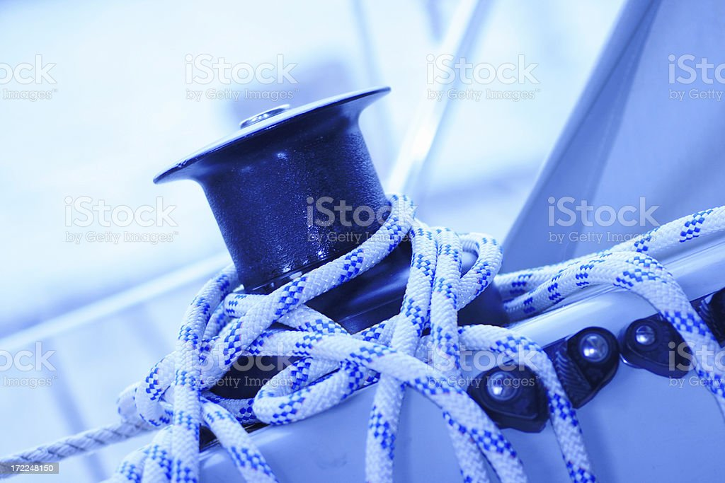 Cable Winch royalty-free stock photo