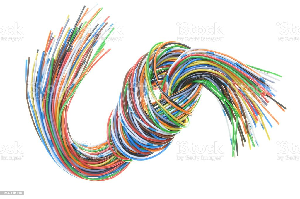 Cable with knot stock photo