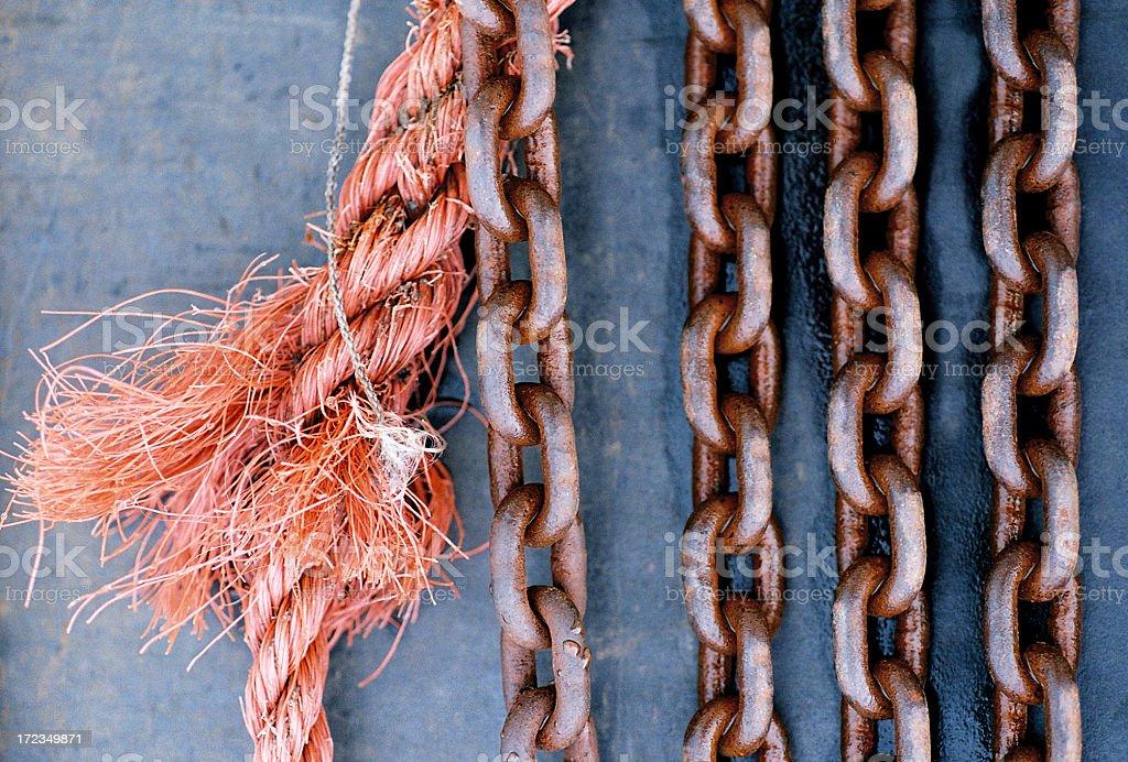 Cables y cuerda foto de stock libre de derechos