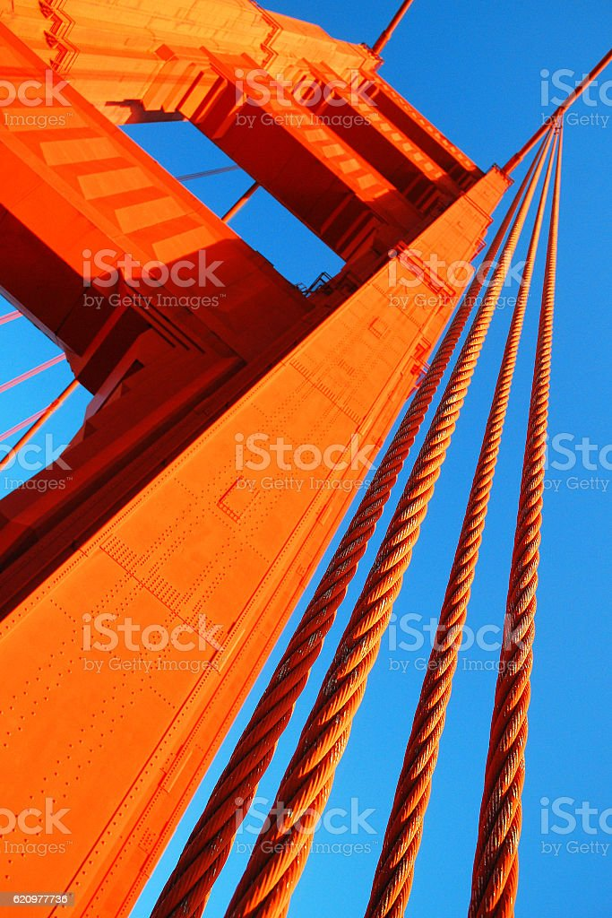Cables of the Golden Gate stock photo