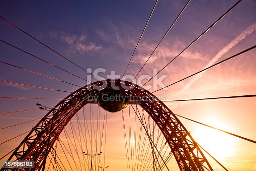 Zhivopisny Bridge is a cable-stayed bridge that spans Moskva River in north-western Moscow, Russia. It is the first cable-stayed bridge in Moscow. Opened on 27 December 2007 as a part of Krasnoprenensky avenue. It is also the highest cable-stayed bridge in Europe.