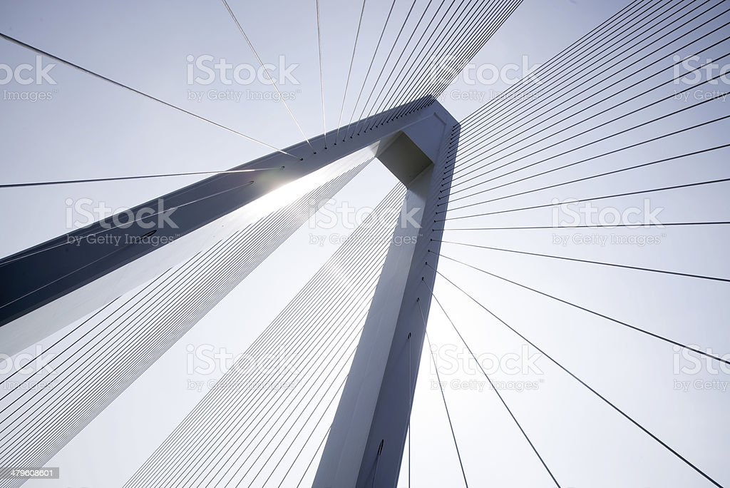 Cable-stayed bridge stok fotoğrafı