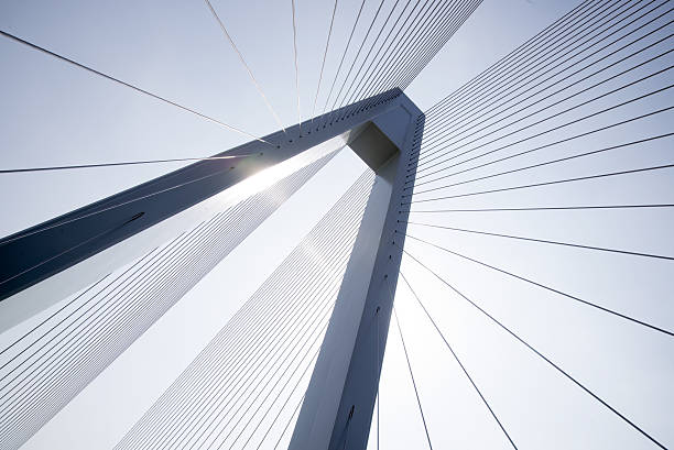 Cable-stayed bridge stock photo
