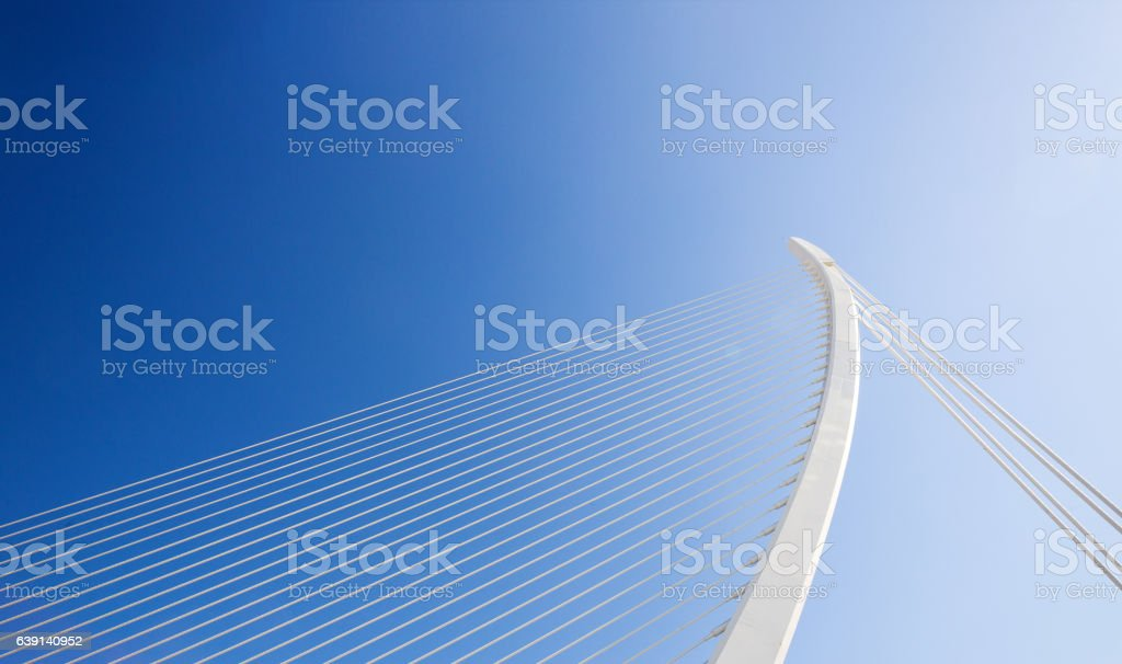 Cable-stayed bridge stock photo