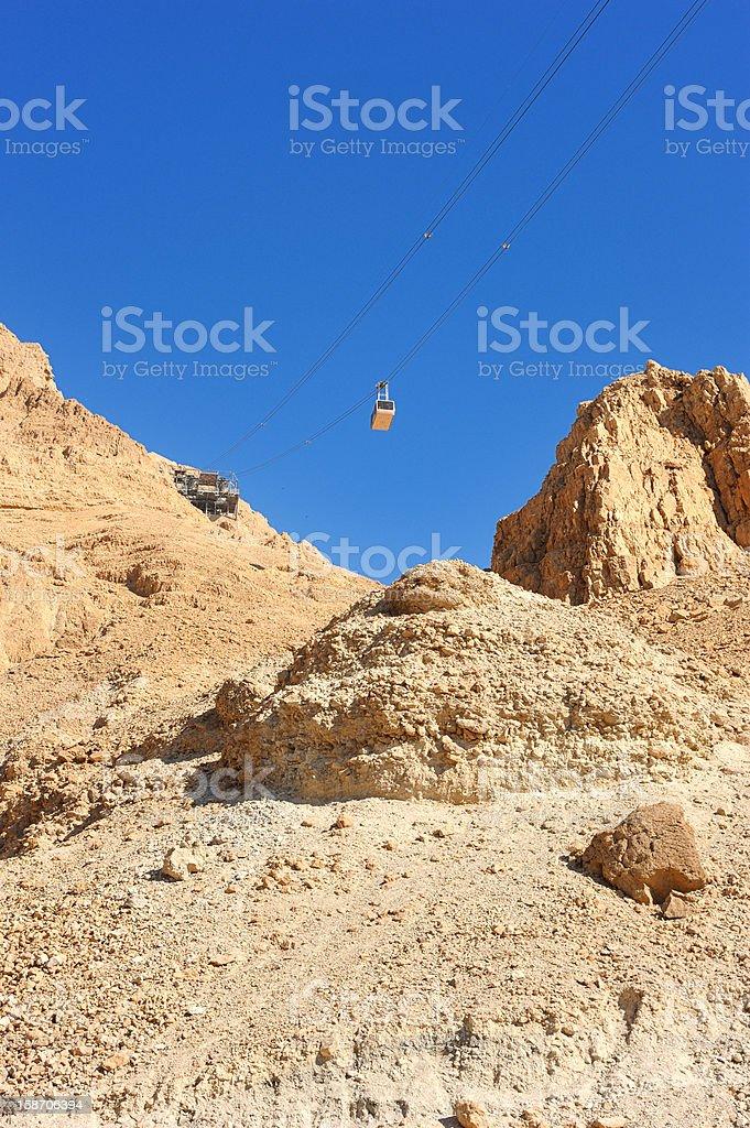 Cableway at Masada. royalty-free stock photo