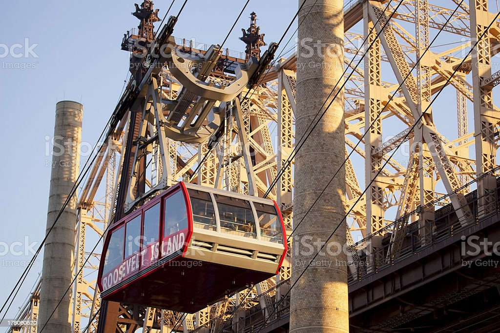 Cableway from Manhattan to Roosevelt Island. stock photo