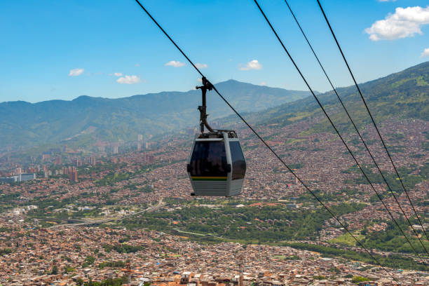 Seilbahn von der Stadt Medellin. Kolumbien – Foto