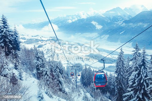 Cableway in Kitzbüheler Alpen mountains
