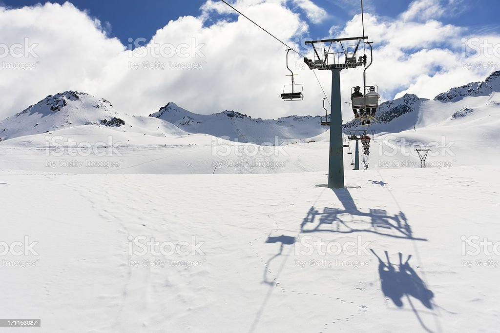 Cableway royalty-free stock photo