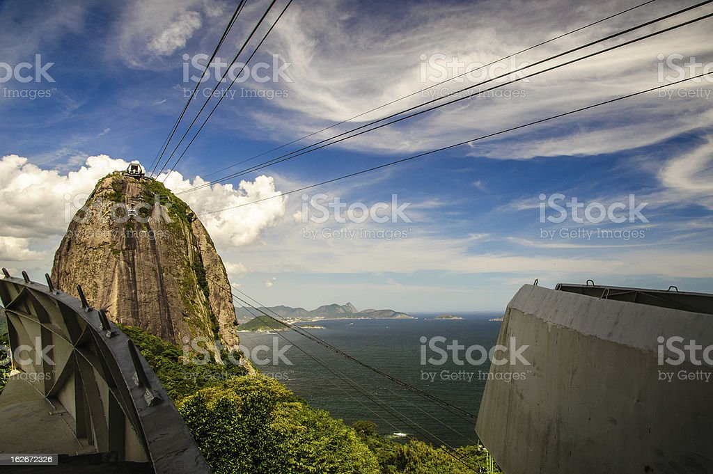 Cableway to Sugarloaf Mountain royalty-free stock photo