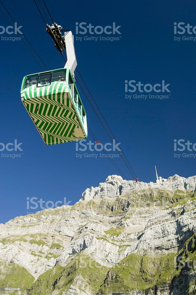 Cableway to the Peak royalty-free stock photo