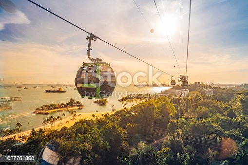 Cableway trip in Sentosa Island, Singapore