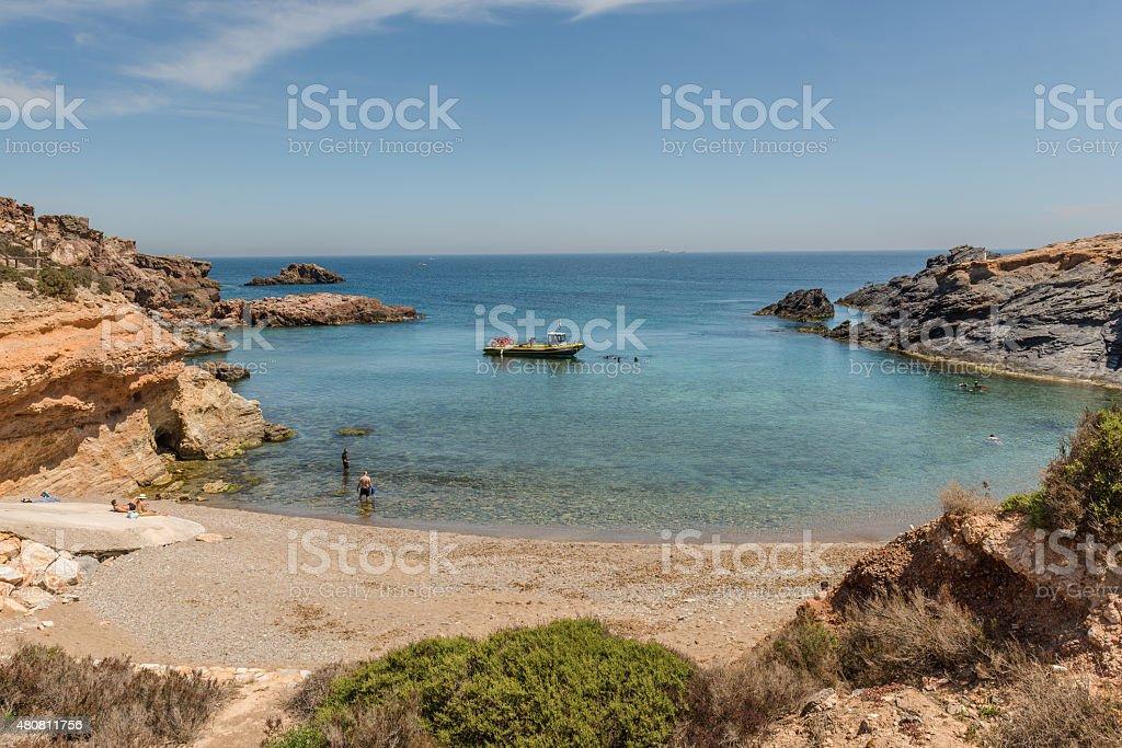Cabo de Palos.  Mediterranean. Spain. May 02, 2015 stock photo