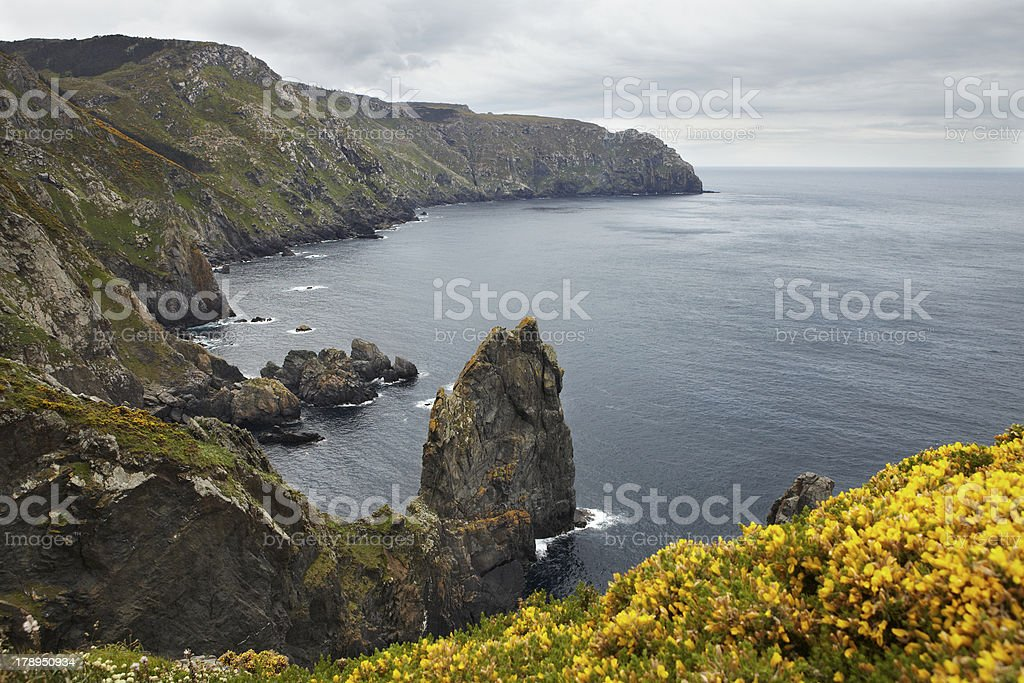 Cabo Otegal, Galicia stock photo