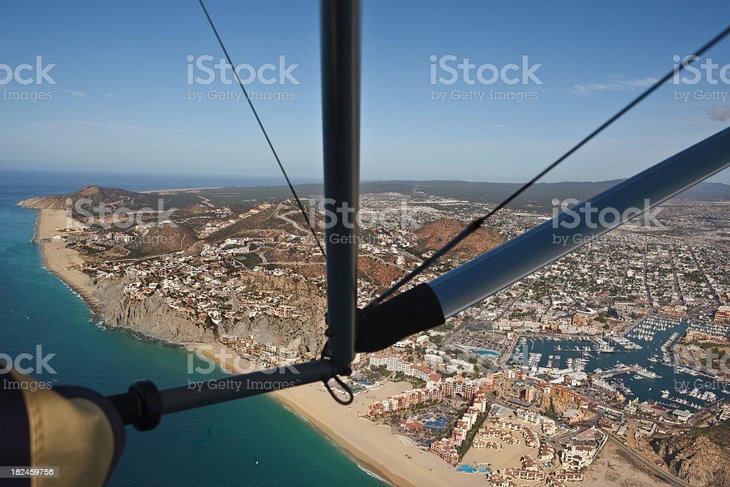 Cabo Pacific vista lateral de aviones ultraligeros foto de stock libre de derechos