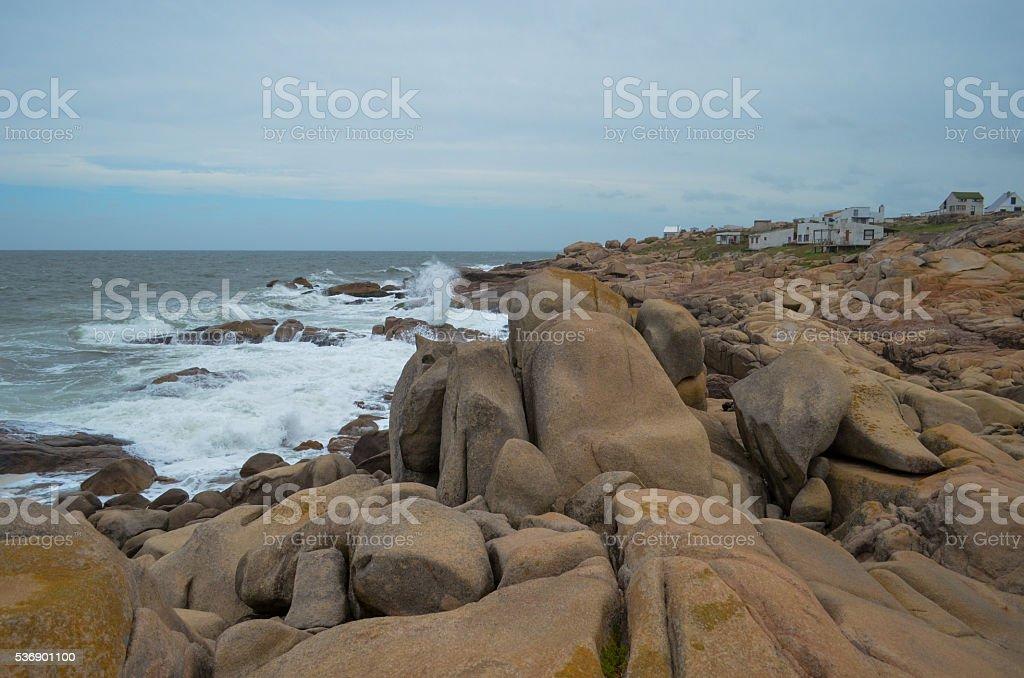 Cabo Polonio Viallge stock photo