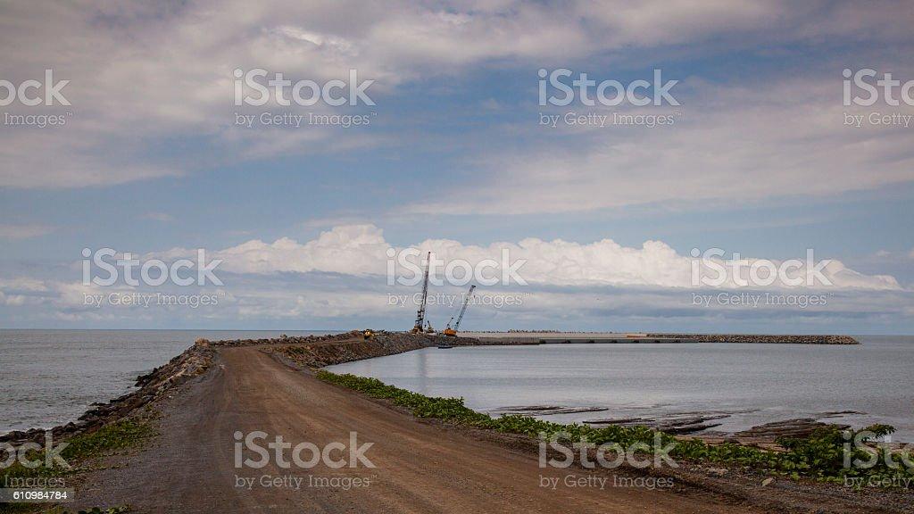 Cabo San Juan´s harbour stock photo