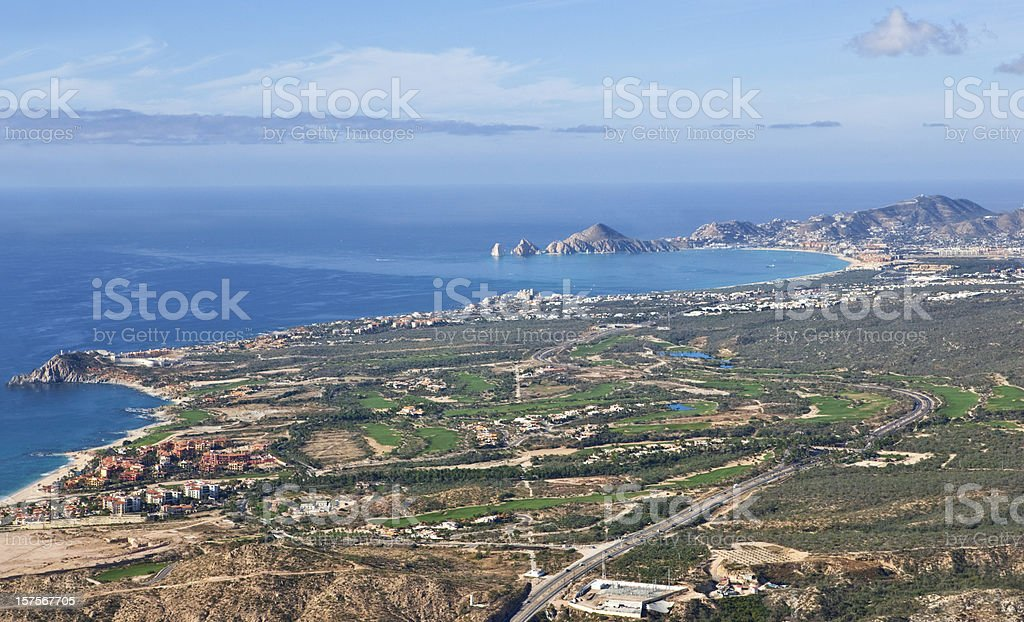 Cabo San Lucas Aerial View royalty-free stock photo
