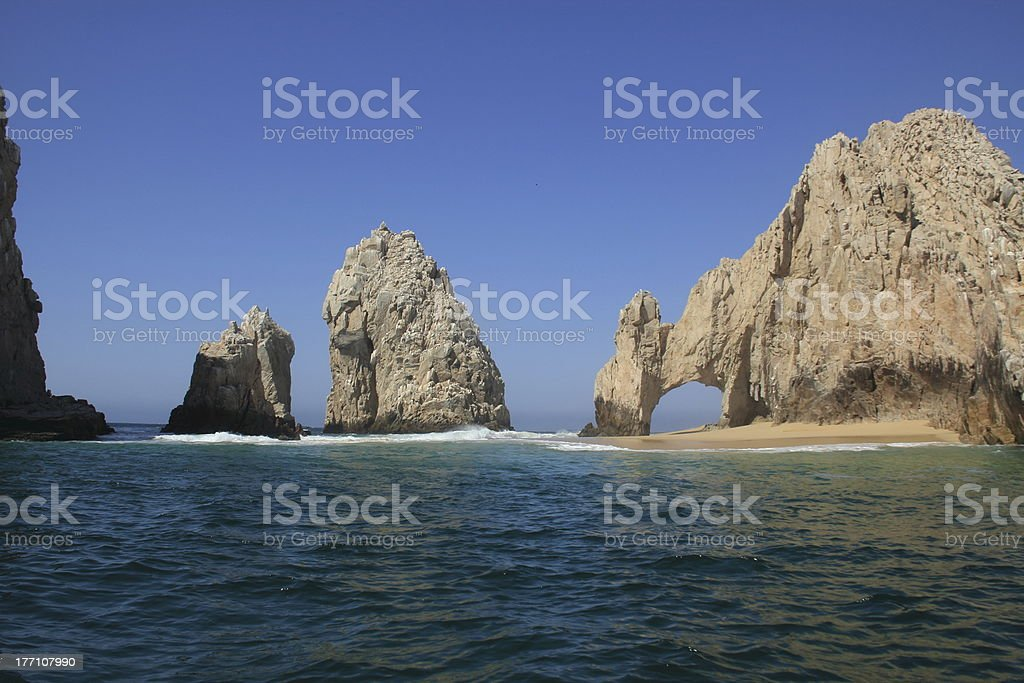 Cabo San Lucas Land's End stock photo