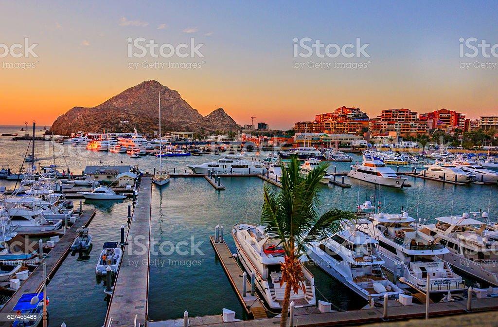 De Cabo San Lucas Marina - foto de stock