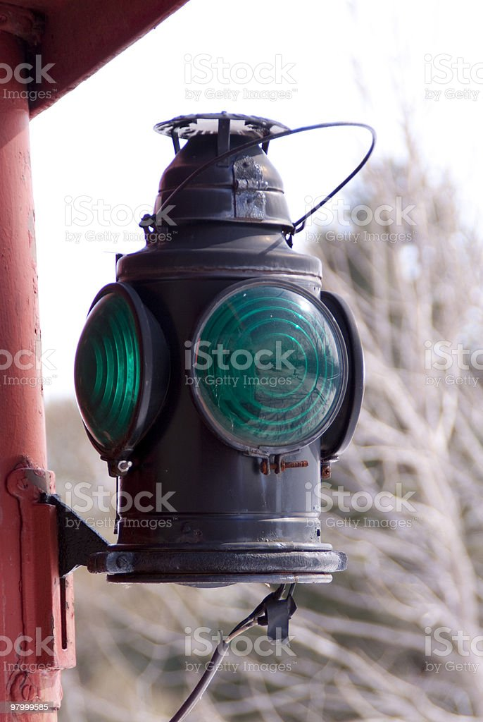 Caboose Lantern royalty-free stock photo