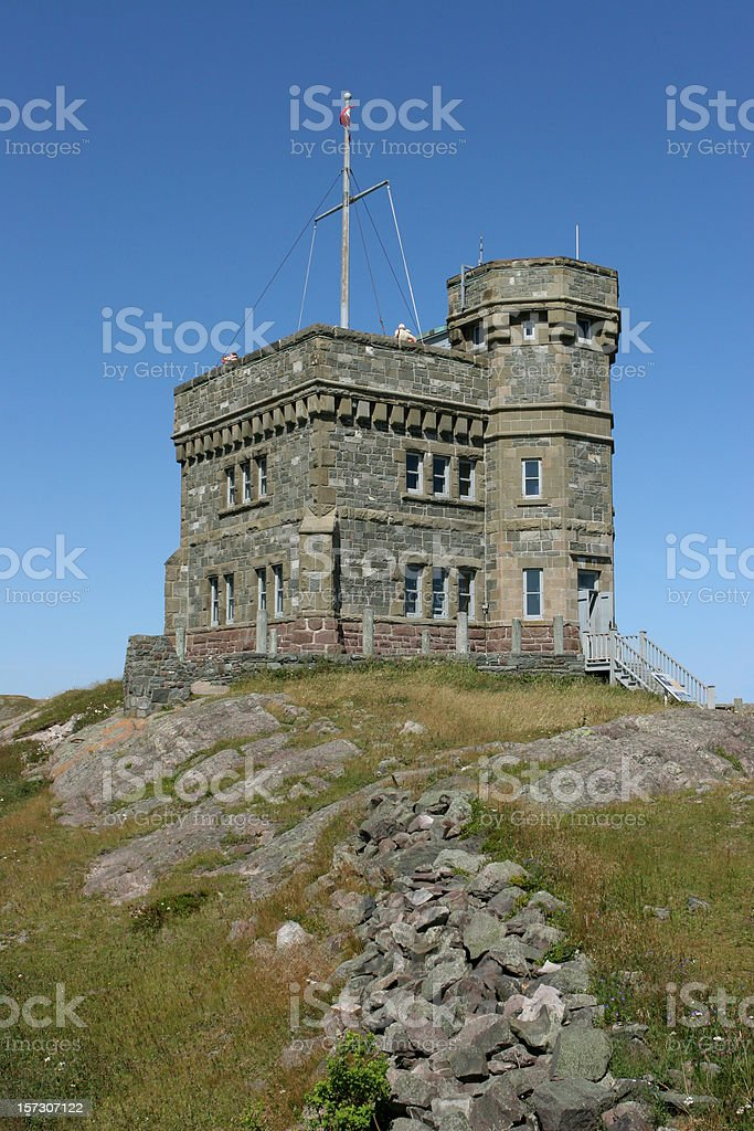 Cabot Tower on Signal Hill St. John's Newfoundland and Labrador royalty-free stock photo