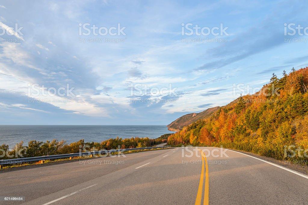 Sentier Cabot Highway (Cape Breton, Nova Scotia, Canada) photo libre de droits