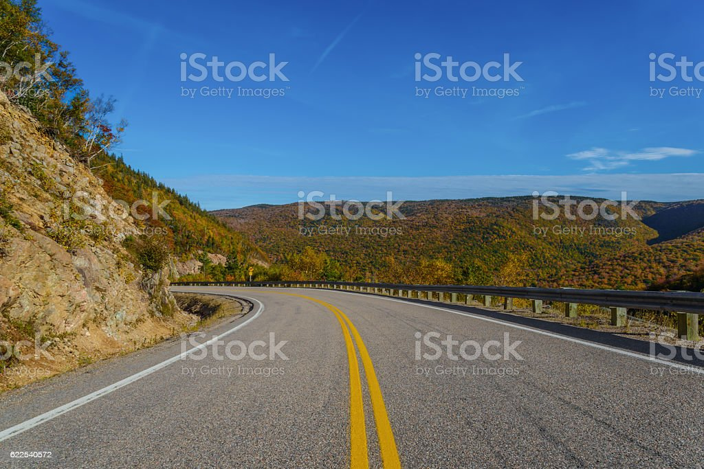 Cabot Trail Highway stock photo