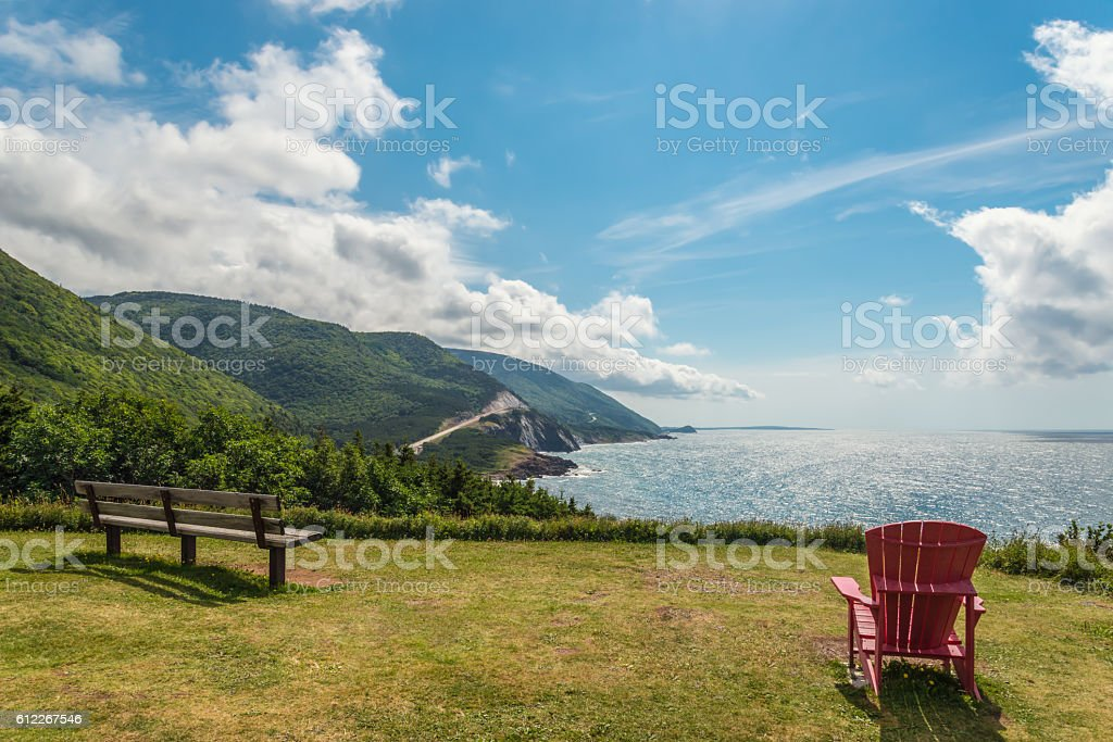 Cabot Trail look-off stock photo