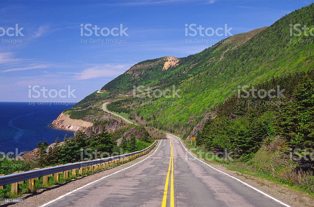 Cabot Trail Nova Scotia stock photo
