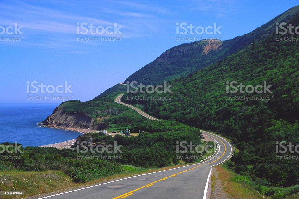 Cabot Trail Nova Scotia royalty-free stock photo