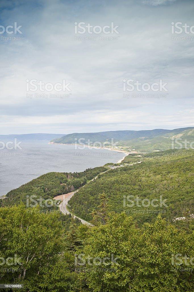Cabot Trail Nova Scotia royalty-free stock photo