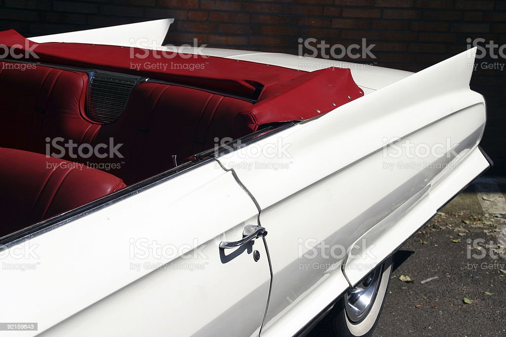 Cabriolet in white royalty-free stock photo