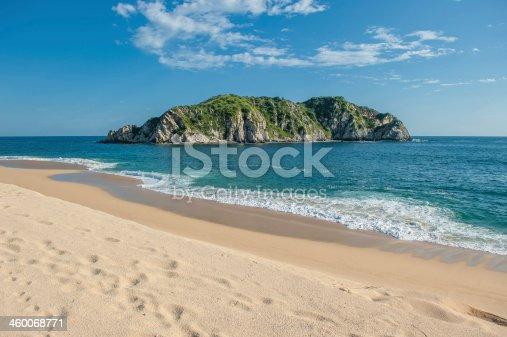 istock Cacaluta beach in Huatulko, Oaxaca, Mexico 460068771