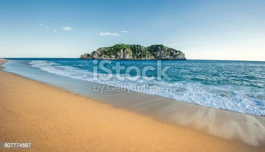 istock Cacaluta beach in Huatulko, Oaxaca, Mexico 507774557