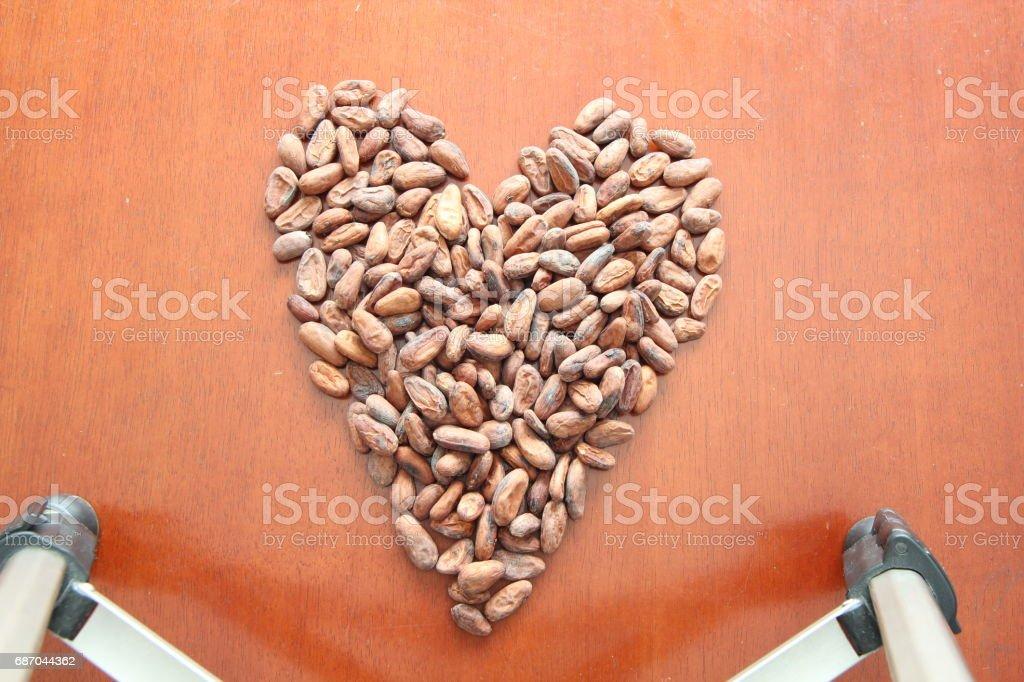 cacao-Bohnen Lizenzfreies stock-foto