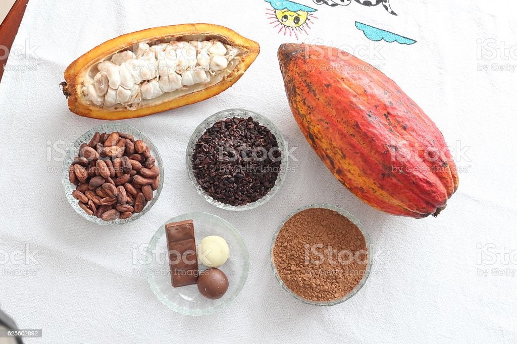 Cacao - Super Food stock photo