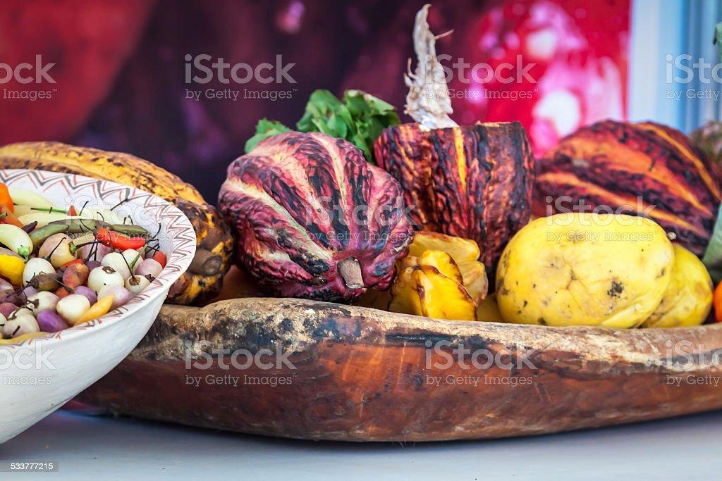 Cacao/Cocoa pods stock photo