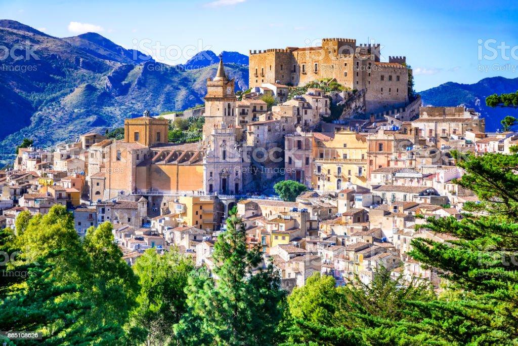 Caccamo, Sicily, Italy stock photo